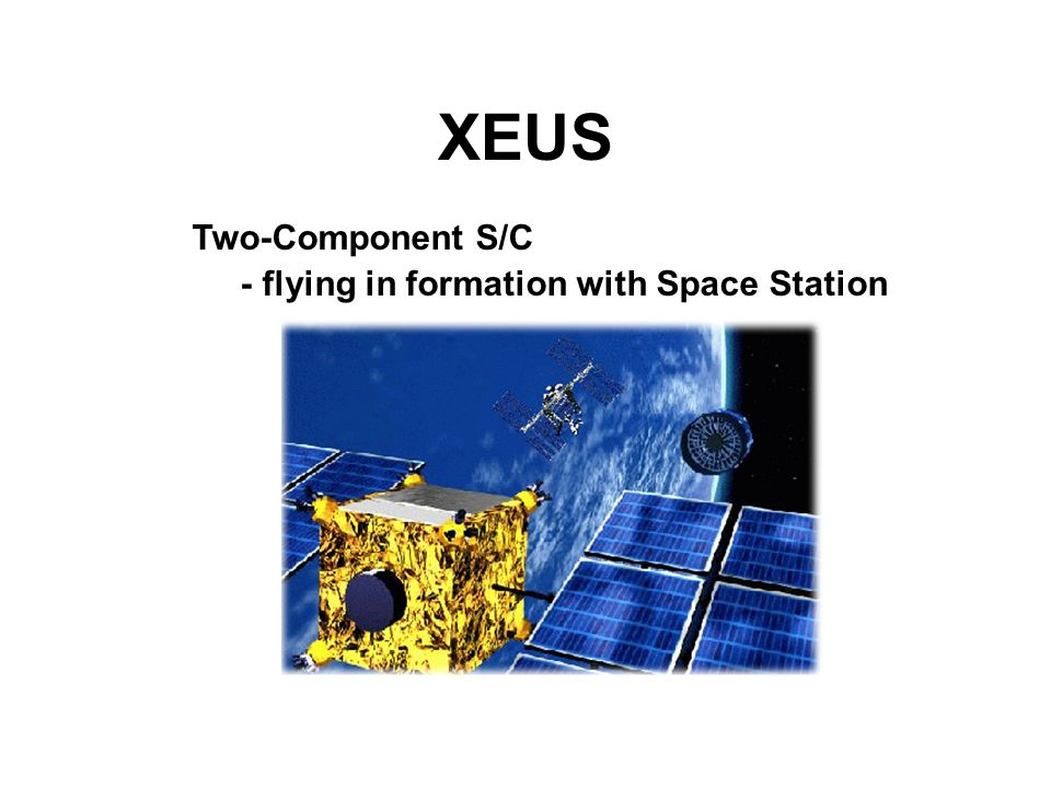 XEUS Two-Component S/C - flying in formation with Space Station
