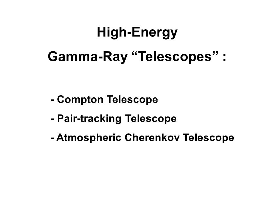 Gamma-Ray Telescopes :