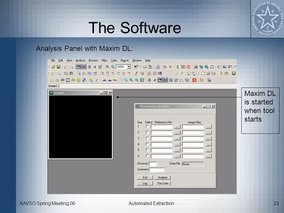 The Software Analysis Panel with Maxim DL: