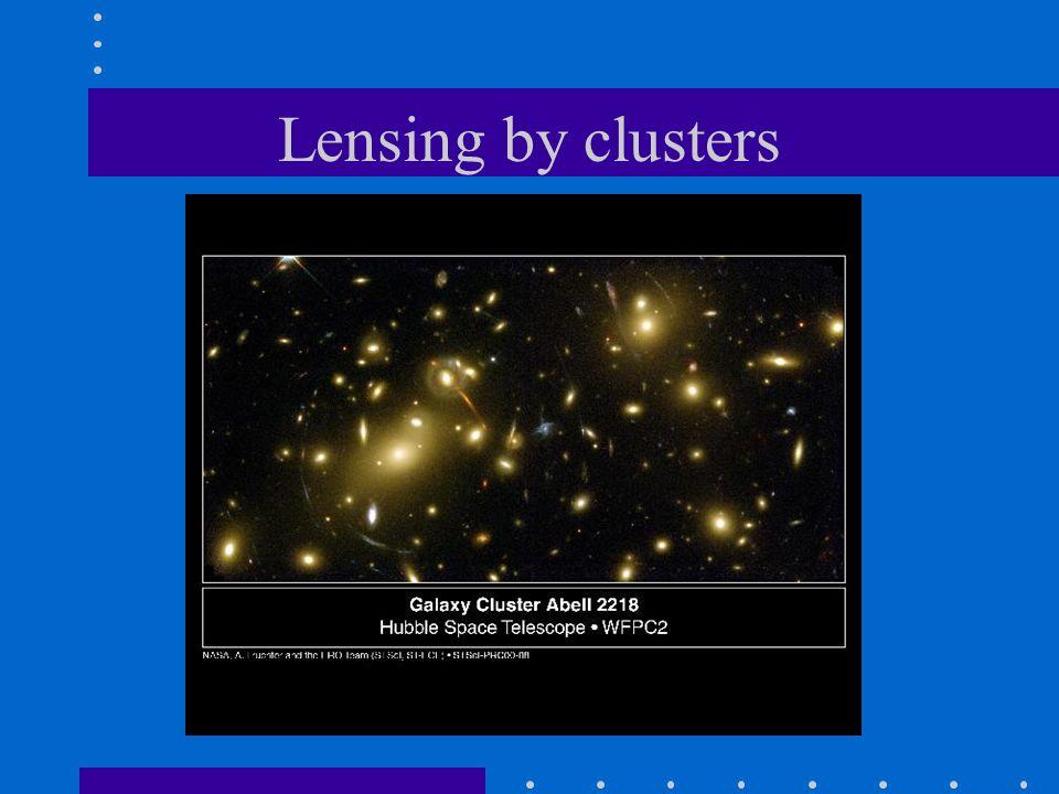 Lensing by clusters