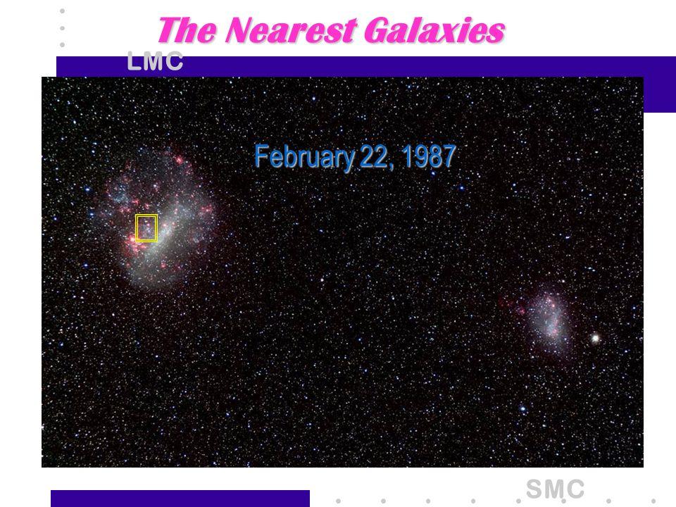 The Nearest Galaxies LMC February 22, 1987 SMC