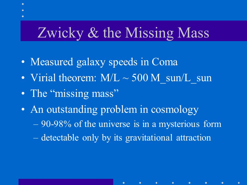 Zwicky & the Missing Mass