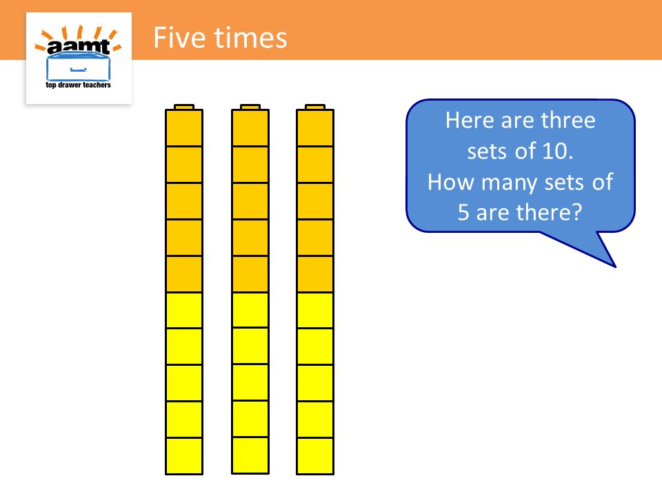 How many sets of 5 are there