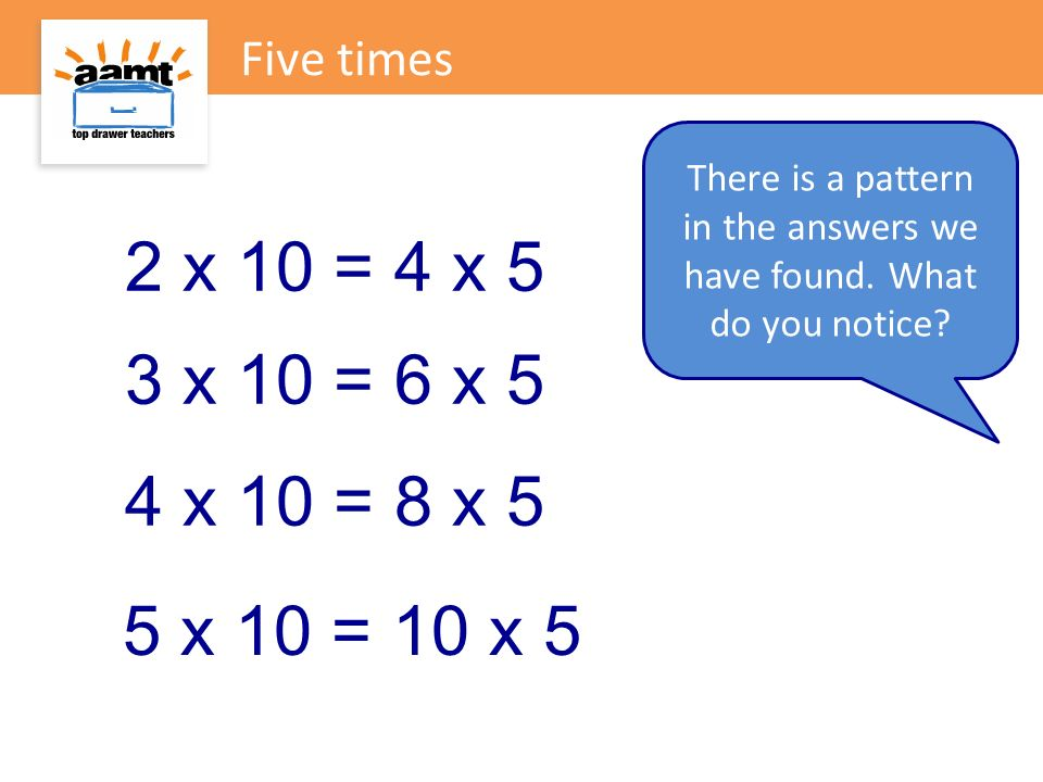 There is a pattern in the answers we have found. What do you notice
