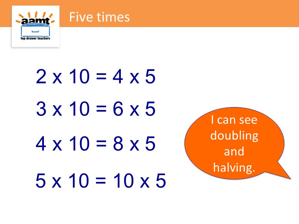 I can see doubling and halving.