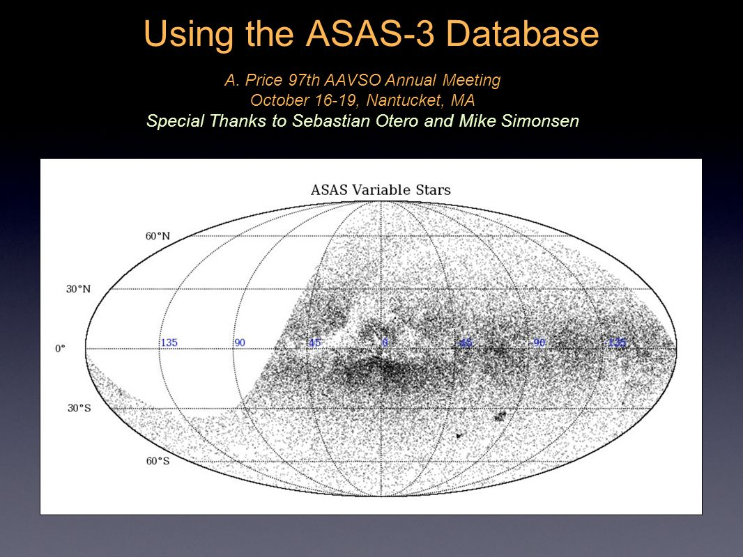 Using the ASAS-3 Database