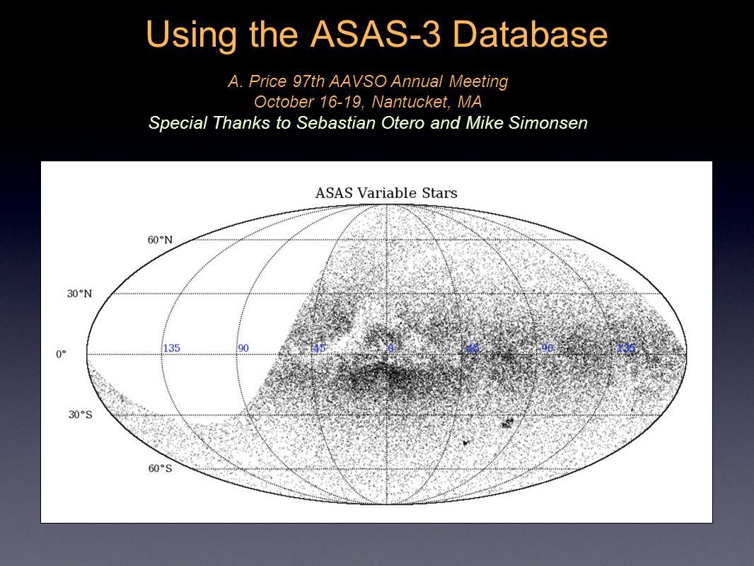Using the ASAS-3 Database