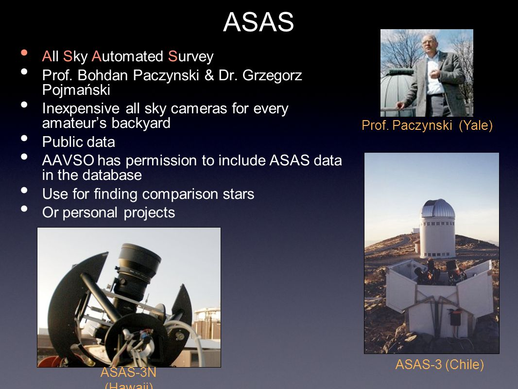 ASAS All Sky Automated Survey