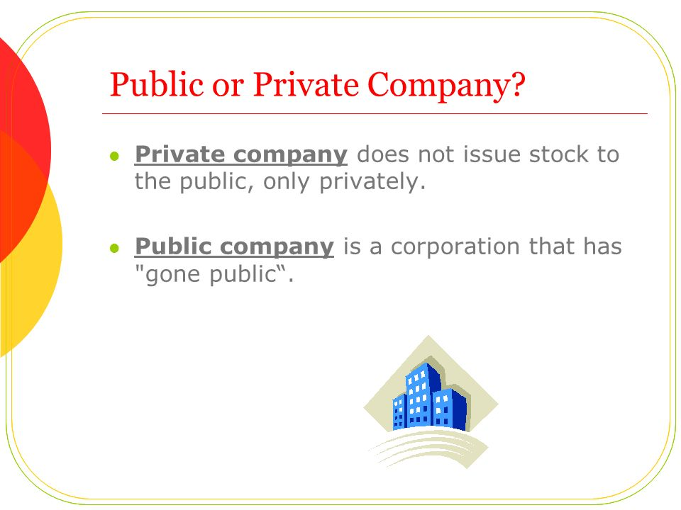 Public or Private Company