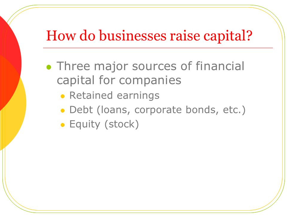 How do businesses raise capital