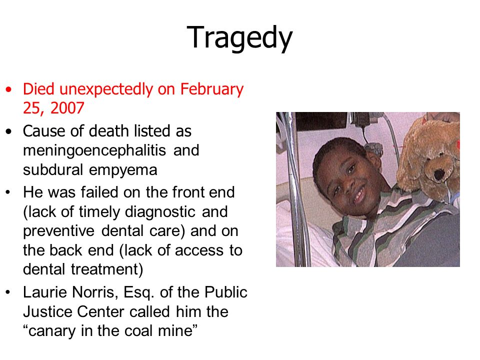 Tragedy Died unexpectedly on February 25, 2007