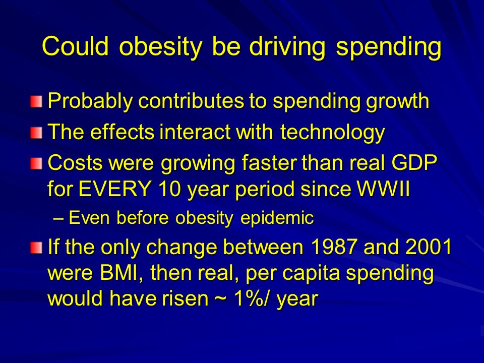 Could obesity be driving spending