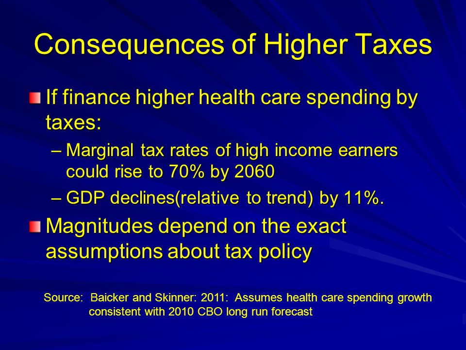 Consequences of Higher Taxes