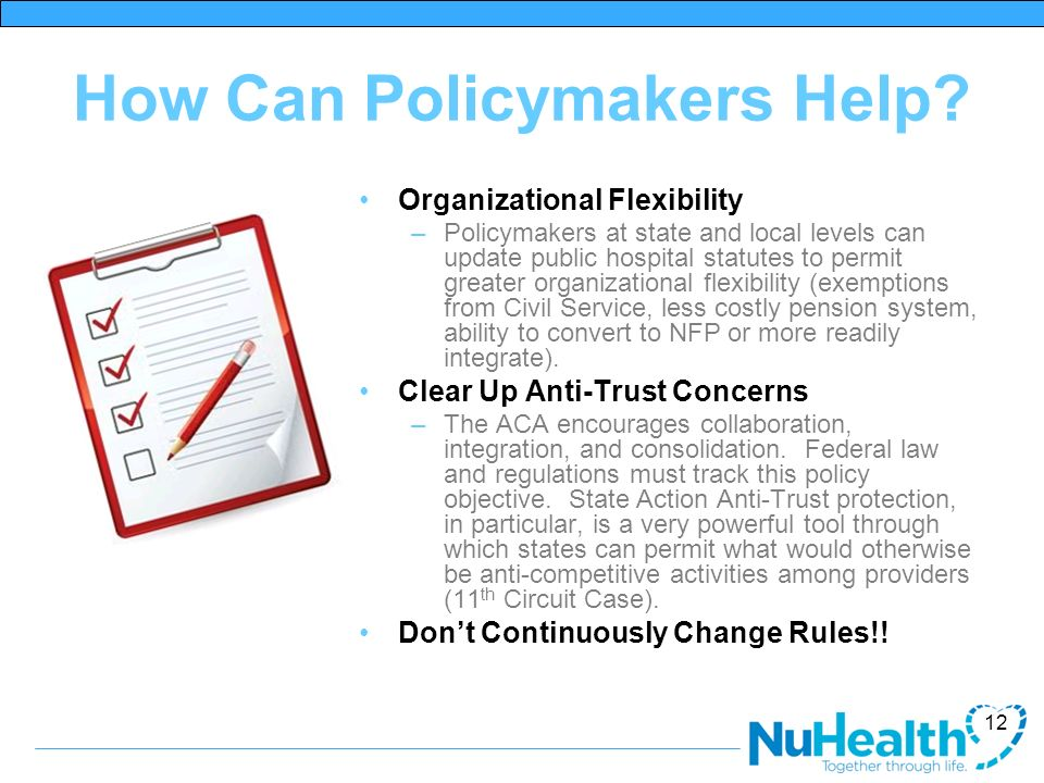 How Can Policymakers Help