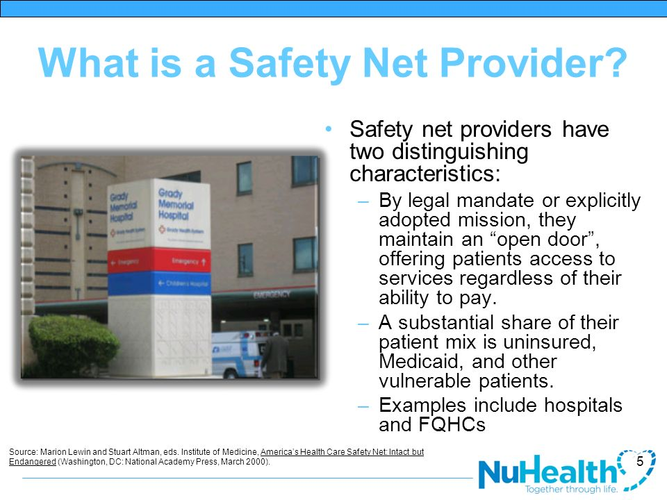 What is a Safety Net Provider