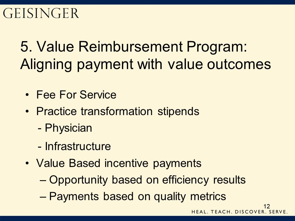 5. Value Reimbursement Program: Aligning payment with value outcomes