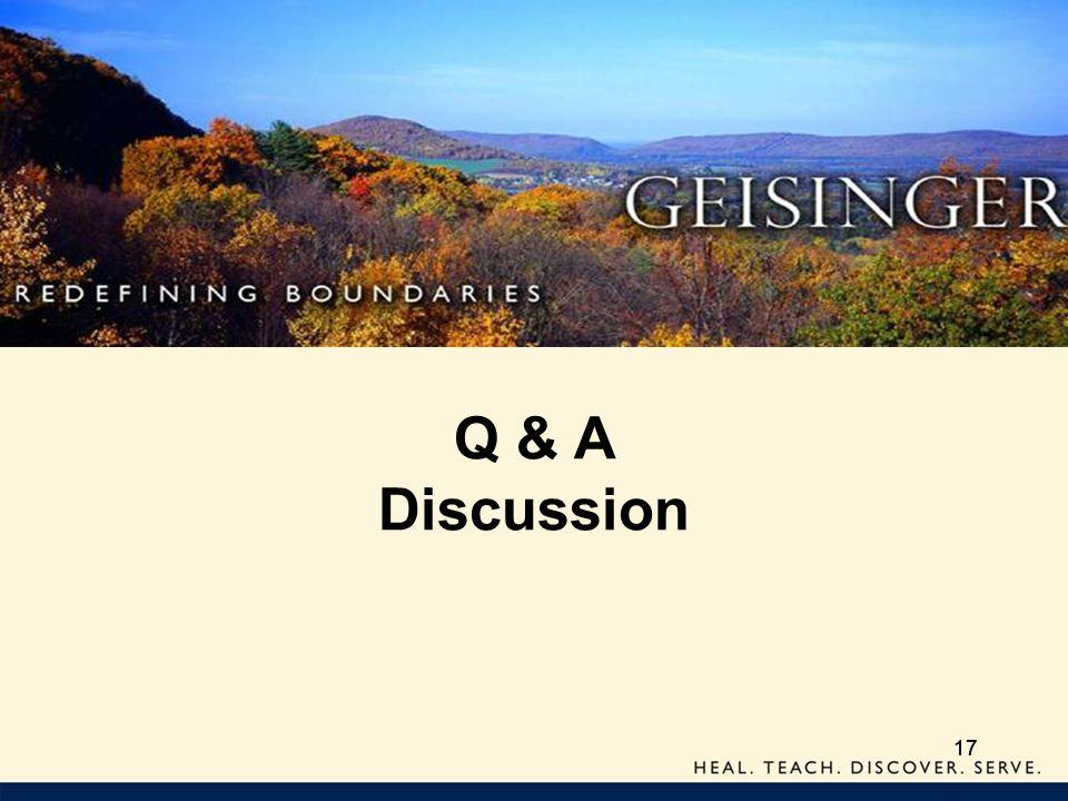 Q & A Discussion 17 17 17