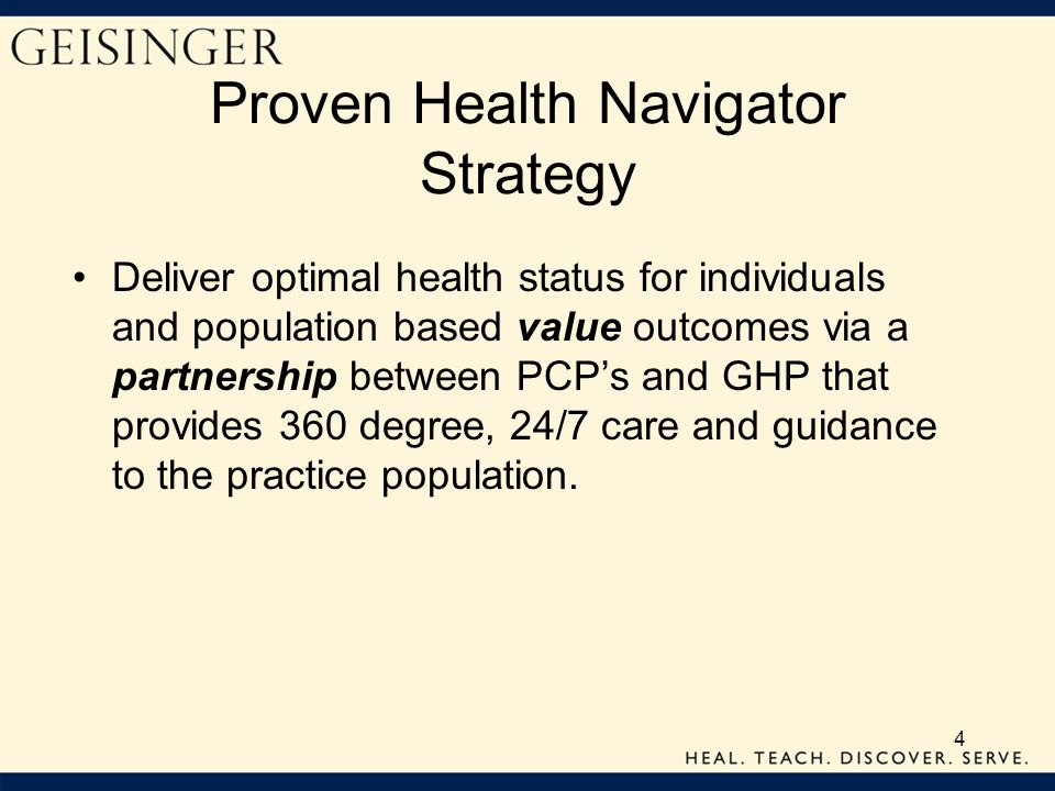 Proven Health Navigator Strategy