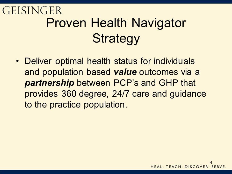 Proven Health Navigator Strategy