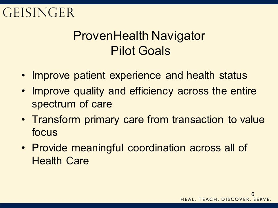 ProvenHealth Navigator Pilot Goals
