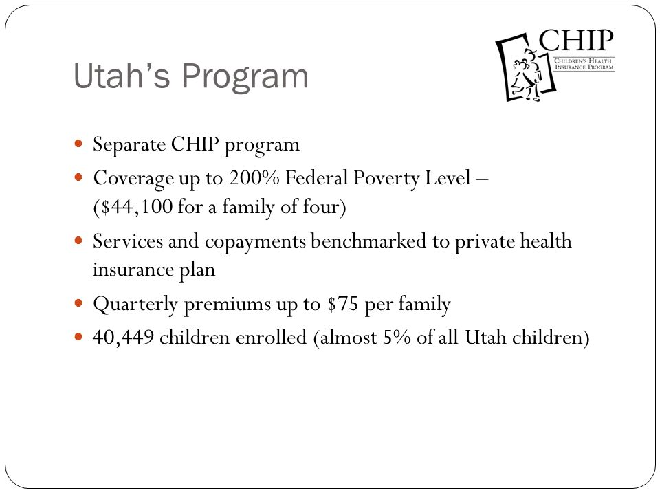 Utah's Program Separate CHIP program