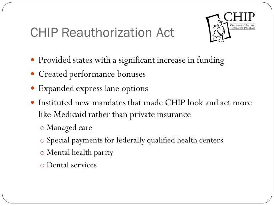 CHIP Reauthorization Act