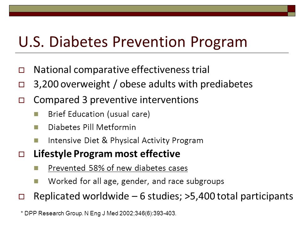 U.S. Diabetes Prevention Program