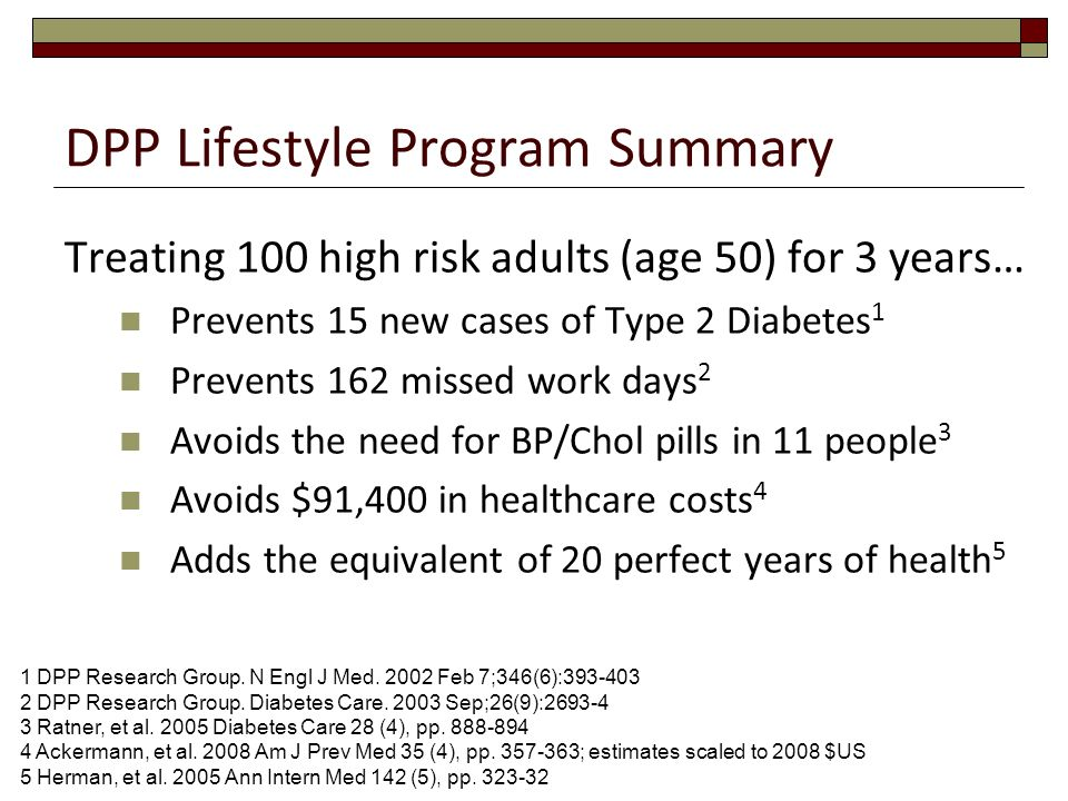 DPP Lifestyle Program Summary