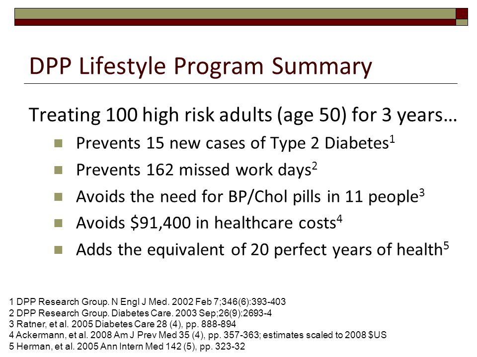 DPP Lifestyle Program Summary