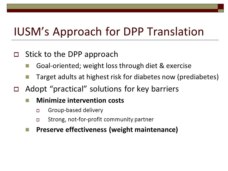 IUSM's Approach for DPP Translation