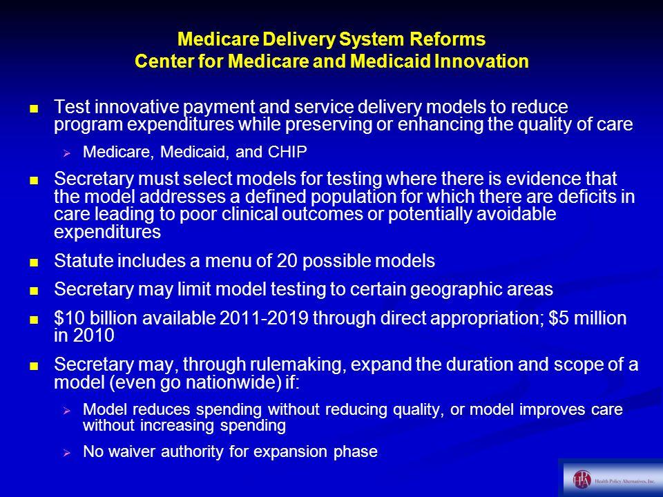 Statute includes a menu of 20 possible models