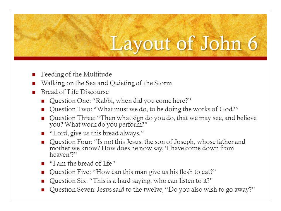 Layout of John 6 Feeding of the Multitude
