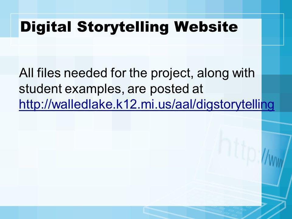 Digital Storytelling Website