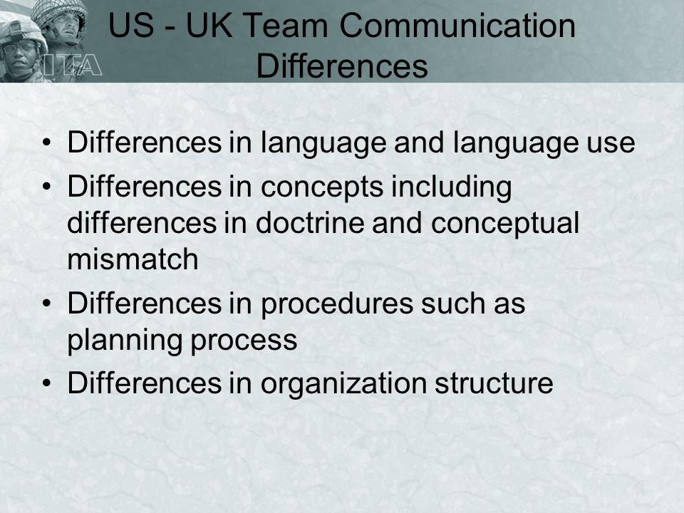 US - UK Team Communication Differences