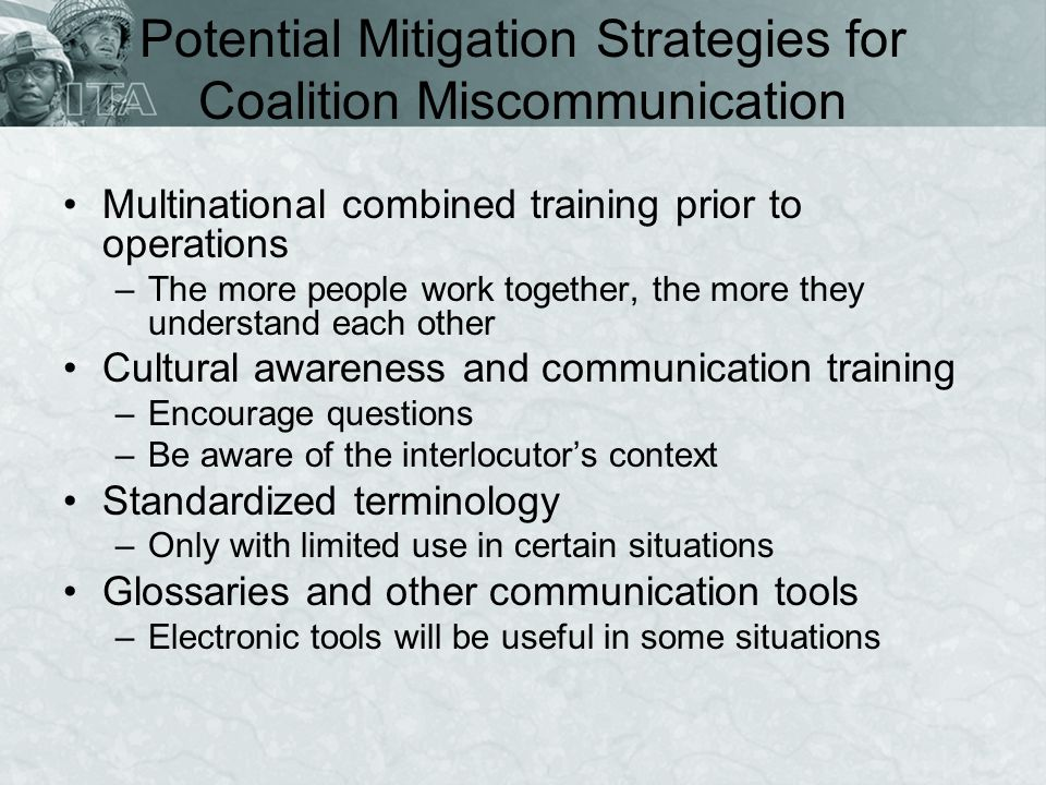 Potential Mitigation Strategies for Coalition Miscommunication