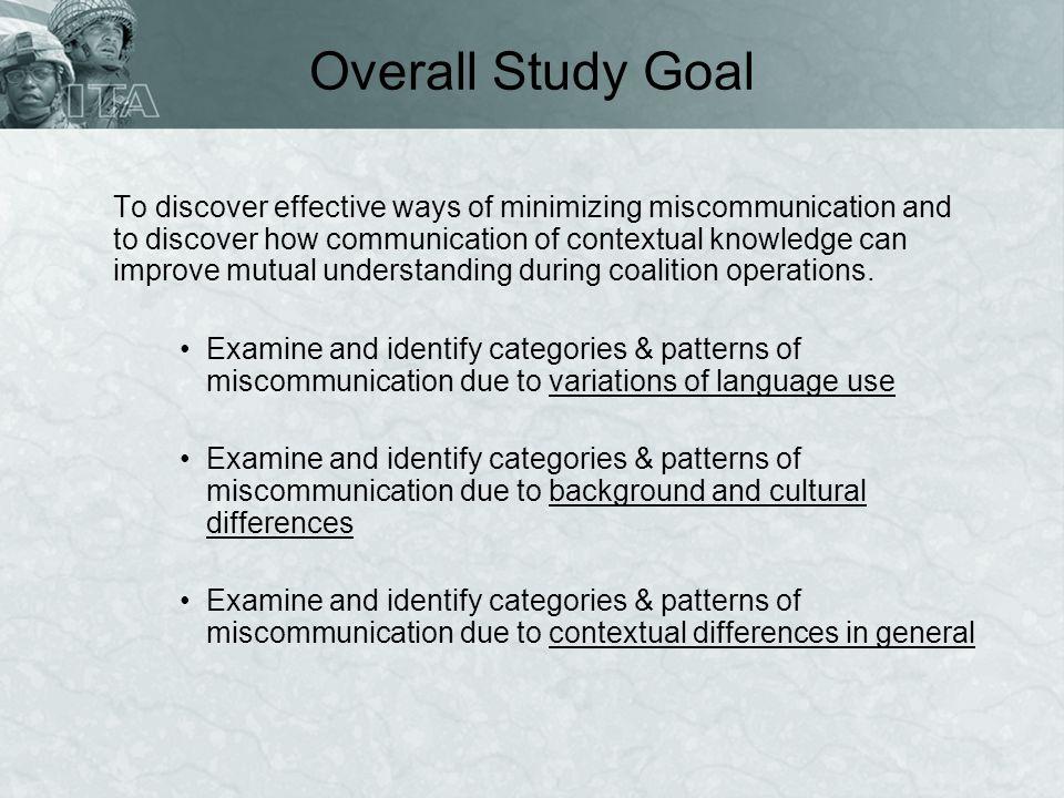Overall Study Goal