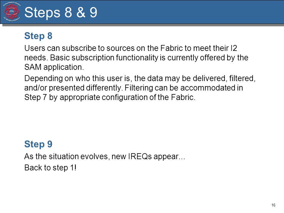 Steps 8 & 9 Step 8.