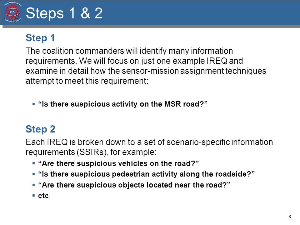 Steps 1 & 2 Step 1.