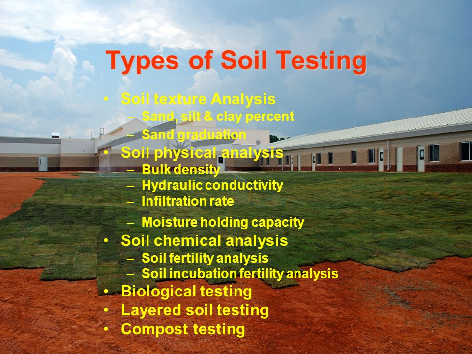 Types of Soil Testing Soil texture Analysis Soil physical analysis