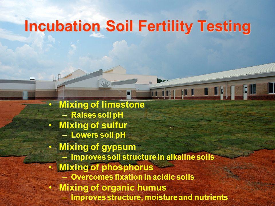 Incubation Soil Fertility Testing
