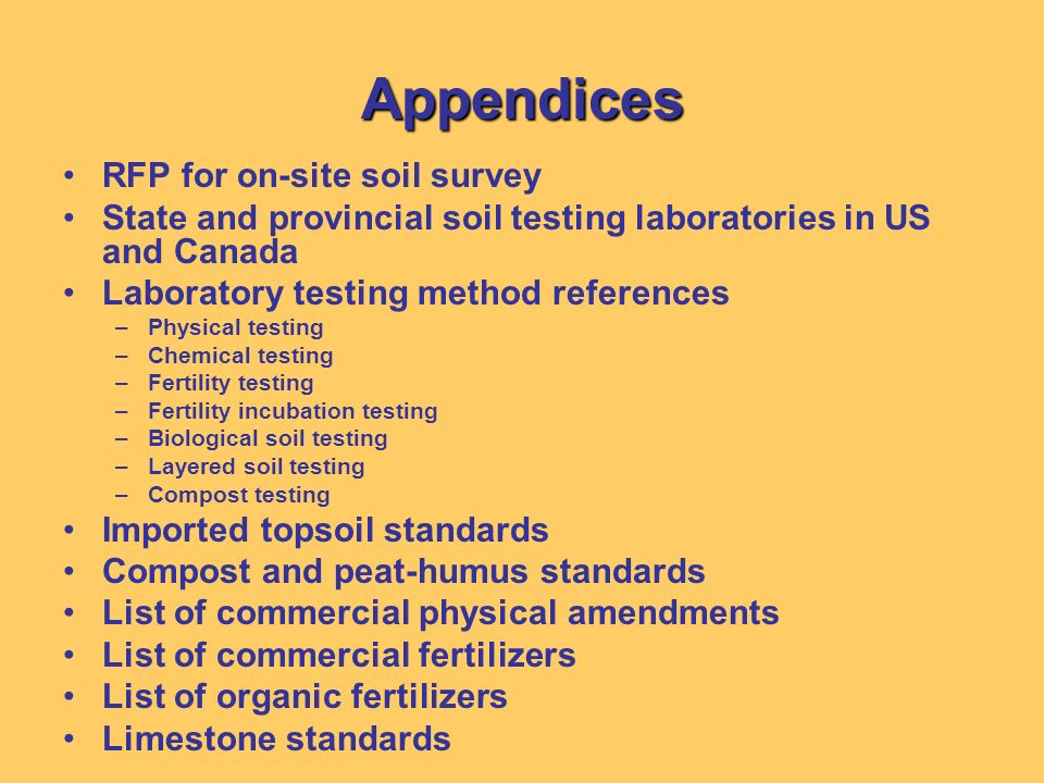 Appendices RFP for on-site soil survey