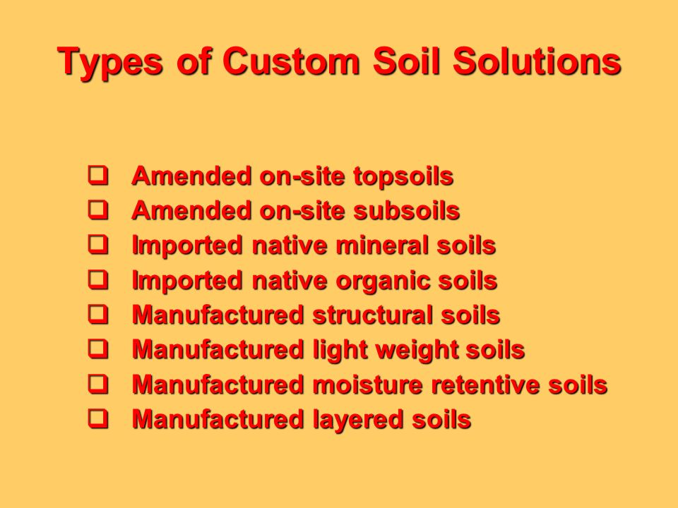 Types of Custom Soil Solutions