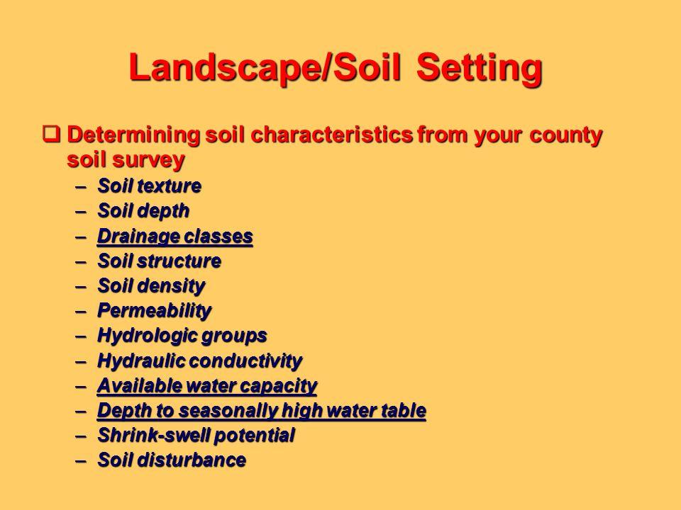 Landscape/Soil Setting