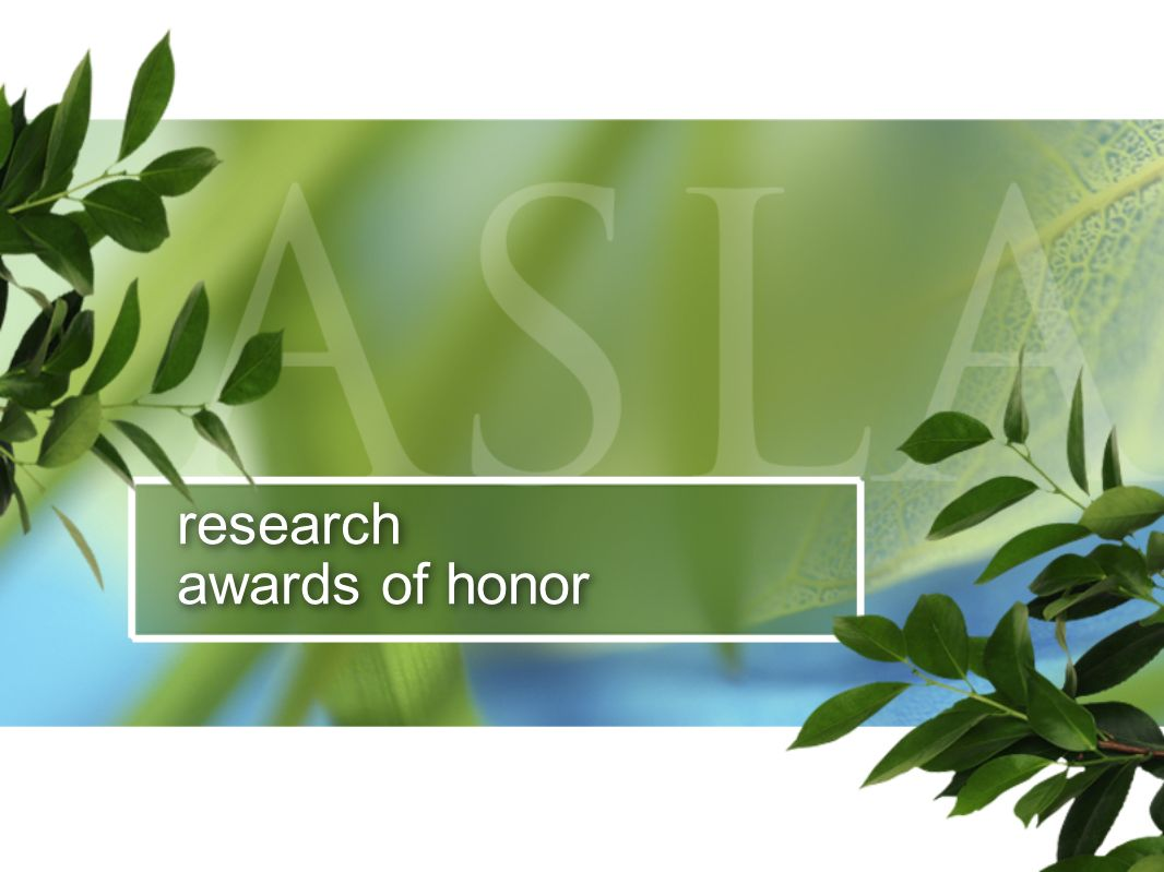 research awards of honor