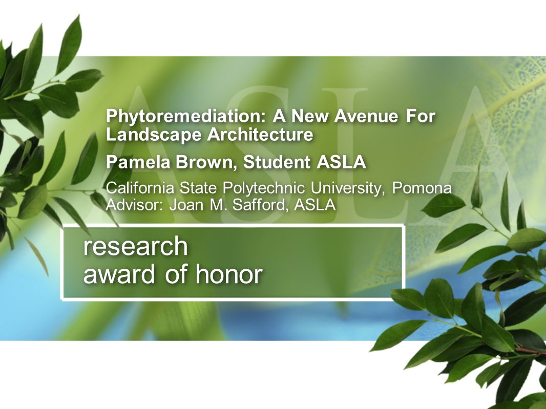 research award of honor