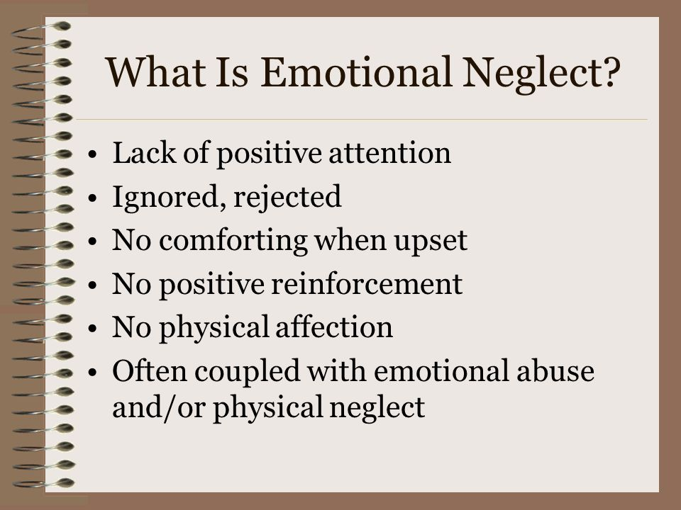 What Is Emotional Neglect