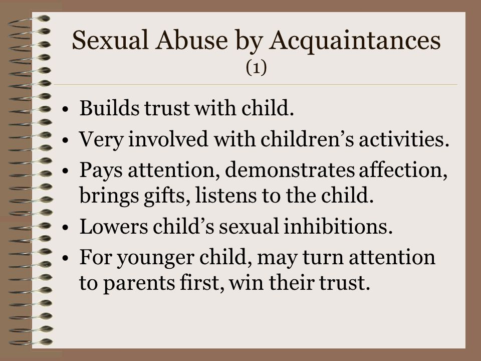 Sexual Abuse by Acquaintances (1)