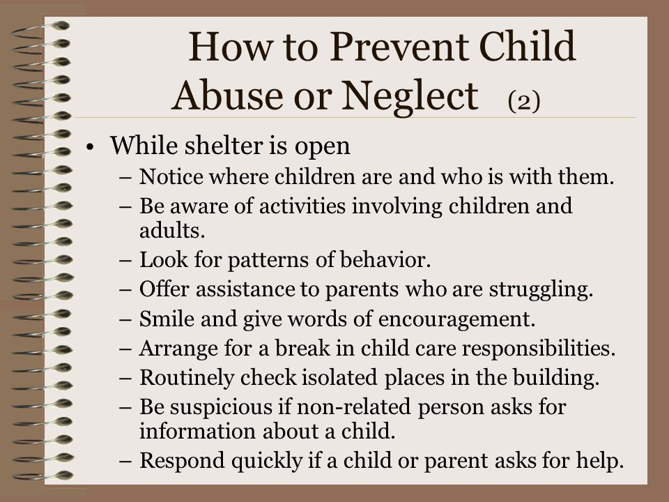How to Prevent Child Abuse or Neglect (2)