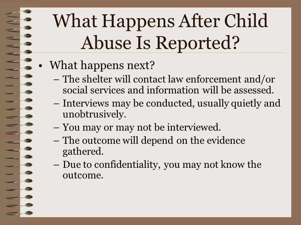 What Happens After Child Abuse Is Reported