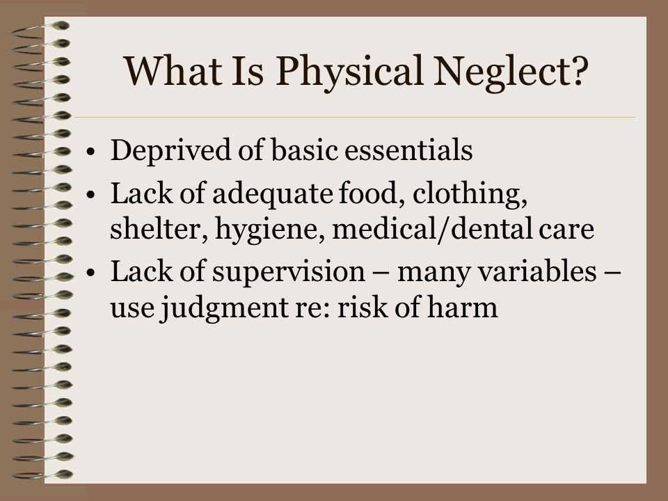 What Is Physical Neglect